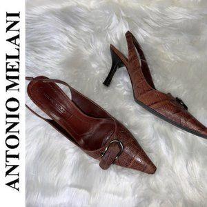 Antonio Melani Sling Back Kitten Heels Sz 7.5